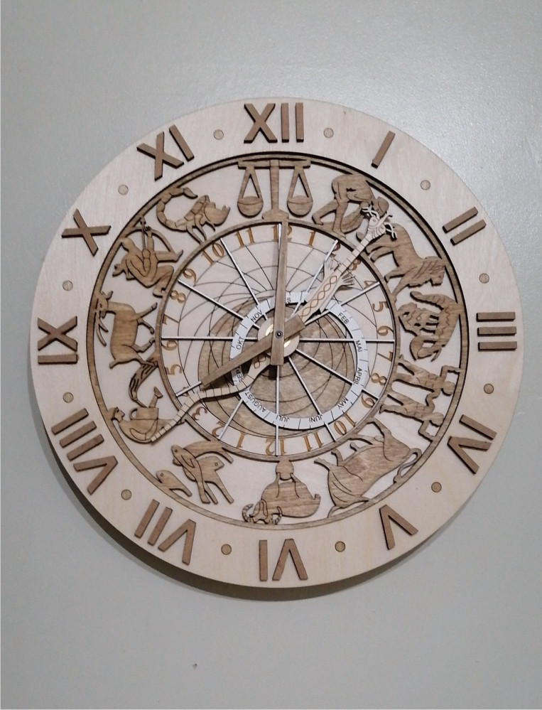 Beautiful laser cut Oslo town clock